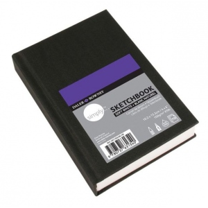 "Cachet® Simply™ Sketchbook 4"" x 6"" Soft White Paper Hardbound; Color: White/Ivory; Format: Book; Quantity: 110 Sheets; Size: 4"" x 6""; Type: Sketching; (model SSW481100406), price per each"