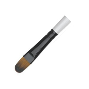Daler-Rowney Simply Simmons Synthetic Acrylic/Multimedia Brush Filbert 12: Short Handle, Bristle, Filbert, Acrylic, Multimedia, (model SS255067012), price per each