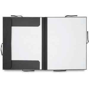 "Cachet® 20"" x 26"" Classic Portfolio with Folding Flaps; Color: Black/Gray; Material: Fiberboard, Paper; Size: 20"" x 26""; (model CS471312026), price per each"