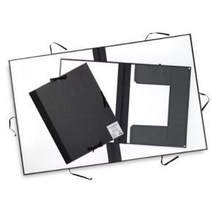 "Cachet® 23"" x 31"" Classic Portfolio with Folding Flaps; Color: Black/Gray; Material: Fiberboard, Paper; Size: 23"" x 31""; (model CS471312331), price per each"