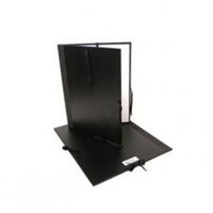 "Cachet® 12"" x 16"" Classic Portfolio: Black/Gray, Fiberboard, Paper, 12"" x 16"", (model CS471301216), price per each"