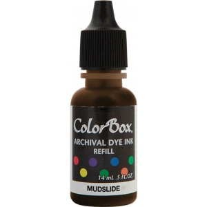ColorBox® Archival Dye Refill Mudslide; Color: Brown; Format: Pad; Ink Type: Dye-Based; (model CS27422), price per each