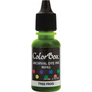 ColorBox® Archival Dye Refill Tree Frog; Color: Green; Format: Pad; Ink Type: Dye-Based; (model CS27417), price per each