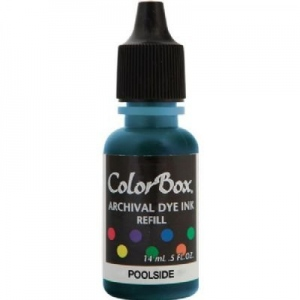 ColorBox® Archival Dye Refill Poolside; Color: Blue; Format: Pad; Ink Type: Dye-Based; (model CS27411), price per each
