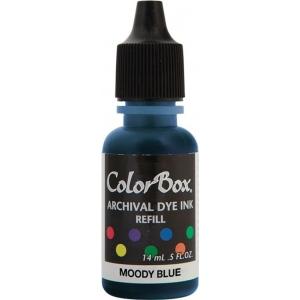 ColorBox® Archival Dye Refill Moody Blue: Blue, Pad, Dye-Based, (model CS27413), price per each