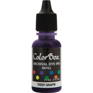ColorBox® Archival Dye Refill Deep Grape; Color: Purple; Format: Pad; Ink Type: Dye-Based; (model CS27409), price per each