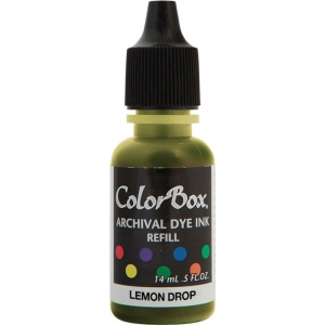 ColorBox® Archival Dye Refill Lemon Drop; Color: Yellow; Format: Pad; Ink Type: Dye-Based; (model CS27402), price per each