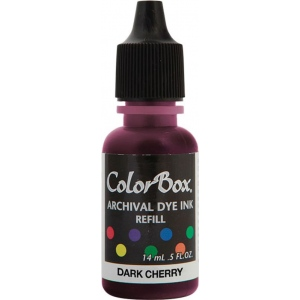 ColorBox® Archival Dye Refill Dark Cherry; Color: Red/Pink; Format: Pad; Ink Type: Dye-Based; (model CS27403), price per each