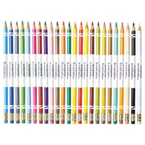 Crayola® 24-Color Erasable Colored Pencil Set; Color: Multi; Type: Drawing; (model 68-2424), price per set