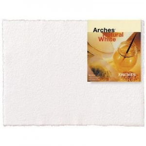 "Canson Arches Watercolor Paper: Rough, UPC Labeled, Natural White, 22"" x 30"", 140 lb./300g, Sheet Pack of 10"