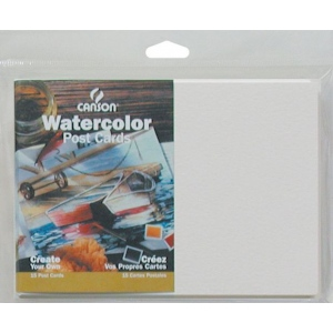 "Canson® Montval® Artist Series 5"" x 7"" Watercolor Cold Press Blank Postcards 140 lb/300g; Color: White/Ivory; Envelope Included: Yes; Format: Card; Quantity: 15-Pack; Size: 5"" x 7""; Texture: Cold Press; (model C100511543), price per each"