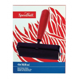 "Speedball® 4"" Heavy Duty Hard Rubber Brayer; Material: Rubber; Size: 4""; (model H4124), price per each"