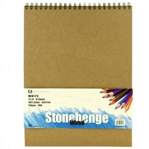 "Stonehenge® 11""x 14"" Versatile Artist Paper 15-Sheet Pad White: White/Ivory, Pad, 15 Sheets, 11"" x 14"", (model L21-STP250WH1114), price per 15 Sheets pad"