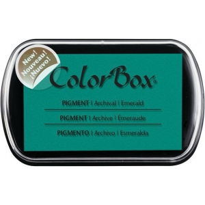 ColorBox® Full Size Pigment Ink Pad Emerald; Color: Green; Format: Pad; Ink Type: Pigment; Shape: Full Size Rectangle; (model CS15223), price per each