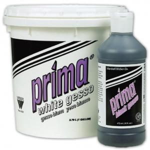 Prima Black Gesso: 473ml, Bottle