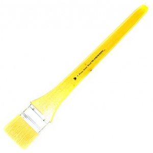 Prima White Bristle Wash with Metal Ferrule: Long Handle, Size 4