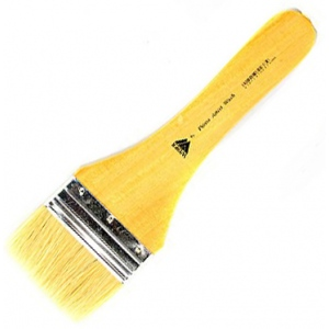 Prima White Bristle Wash with Metal Ferrule: Short Handle, Size 7