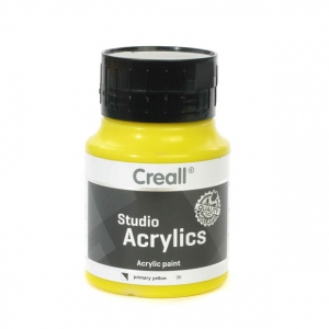 American Educational Creall Studio Acrylics: 500 ml, 06 Primary Yellow