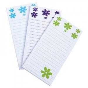 Mishu Magnetic Notestation Set: Black, 50-Sheet Notepads Only