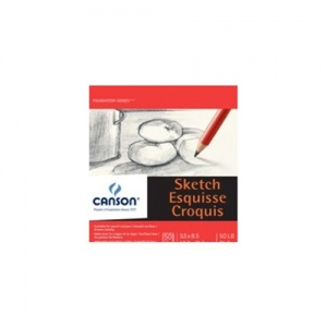 "Canson® Foundation Series 48"" x 10yd Sketch Paper Roll; Color: White/Ivory; Format: Roll; Size: 48"" x 10 yd; Type: Sketching; (model C400024818), price per roll"