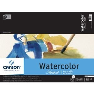 """Canson Arches Watercolor Paper: Field Books, Double Wire, Bound, 140 lb./300g, 14"""" x 10"""", 15-Sheets"""