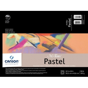 "Canson® Mi-Teintes® Artist Series 12"" x 16"" Fold Over Bound Pad Assorted; Binding: Fold Over; Color: Multi; Format: Pad; Quantity: 24 Sheets; Size: 12"" x 16""; Texture: Heavy, Light; (model C100510865), price per 24 Sheets pad"