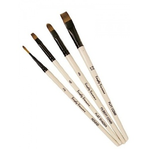 Daler-Rowney Simply Simmons Rake It In 4-Brush Set: Synthetic Bristle, Acrylic, (model SS255400002), price per set