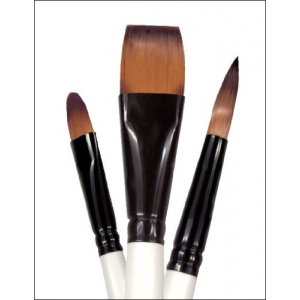 Daler-Rowney Simply Simmons Natural Watercolor & Synthetic 5-Brush Set: Synthetic Bristle, Acrylic, (model SS255500010), price per set