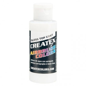 Createx™ Airbrush Gloss Top Coat 16 oz.; Color: Clear; Finish: Gloss; Format: Bottle; Size: 16 oz; Type: Airbrush; (model 5604-16), price per each