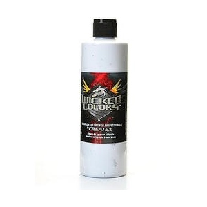 Wicked Colors™ 16oz White Airbrush Paint; Color: White/Ivory; Format: Bottle; Size: 16 oz; Type: Airbrush; (model W001-16), price per each