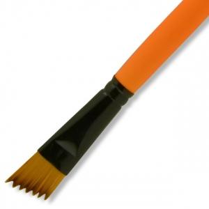 Dynasty® Urban FX Synthetic Saw Curve Brush 3/4: Long Handle, Synthetic, Saw Curve, 3/4, Urban Art, (model FM35339), price per each
