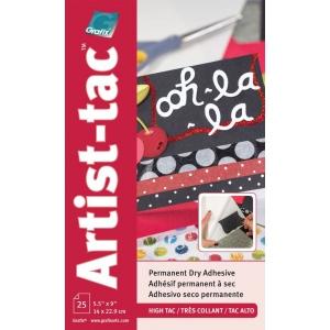 "Grafix® Artist-Tac™ 5 1/2"" x 9"" Adhesive Sheets; Format: Sheet; Quantity: 25 Sheets; Size: 5 1/2"" x 9""; (model KATP559-25), price per 25 Sheets"