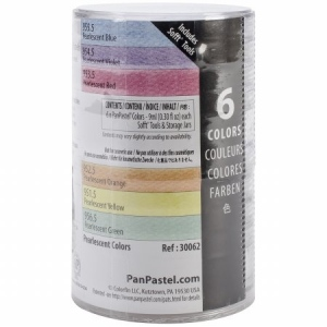 PanPastel® Ultra Soft Artists' Painting Pastel Pearlescent 6-Color Set: Pan, Ultra Soft, (model PP30062), price per set