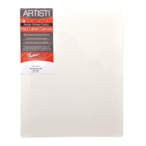 "Fredrix® Artist Series Red Label 5"" x 7"" Stretched Canvas; Color: White/Ivory; Format: Sheet; Size: 5"" x 7""; Stretcher Strips: 11/16"" x 1 9/16""; Type: Stretched; (model T5007), price per each"