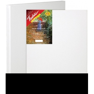 "Fredrix® Artist Series Red Label 6"" x 9"" Stretched Canvas; Color: White/Ivory; Format: Sheet; Size: 6"" x 9""; Stretcher Strips: 11/16"" x 1 9/16""; Type: Stretched; (model T5009), price per each"