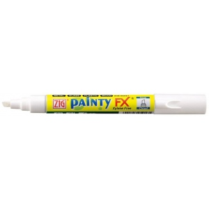 Zig®  Painty FX® Chisel Paint Marker White; Color: White/Ivory; Ink Type: Alcohol-Based; Tip Type: Chisel Nib; (model PPF-50-000), price per each
