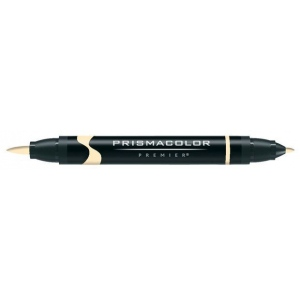 Prismacolor® Premier Art Brush Marker Blond Wood; Color: Brown; Double-Ended: Yes; Ink Type: Alcohol-Based, Dye-Based; Tip Type: Brush Nib, Fine Nib; (model PB096), price per each