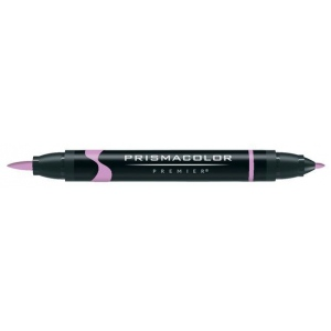 Prismacolor® Premier Art Brush Marker Clay Rose; Color: Red/Pink; Double-Ended: Yes; Ink Type: Alcohol-Based, Dye-Based; Tip Type: Brush Nib, Fine Nib; (model PB137), price per each