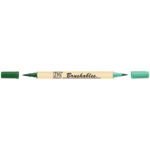 Zig®  Brushables® Marker Kiwi: Green, Double-Ended, Water-Based, Brush Nib, (model MS-7700-402), price per each