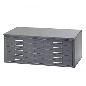 "Mayline® 5-Drawer C-File Gray; Capacity: 1000 Sheets; Color: Black/Gray; Material: Steel; Quantity: 5-Drawer; Size: 41 3/8""d x 53 3/4""w x 15 3/8""h; (model 7869CG), price per each"