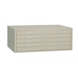 "Mayline® 5-Drawer C-File Sand; Capacity: 1000 Sheets; Color: Brown; Material: Steel; Quantity: 5-Drawer; Size: 41 3/8""d x 53 3/4""w x 15 3/8""h; (model 7869CS), price per each"