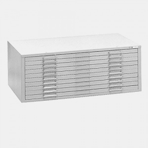 "Mayline® 10-Drawer C-File White; Capacity: 1000 Sheets; Color: White/Ivory; Material: Steel; Quantity: 10-Drawer; Size: 41 3/8""d x 53 3/4""w x 15 3/8""h; (model 7979CW), price per each"
