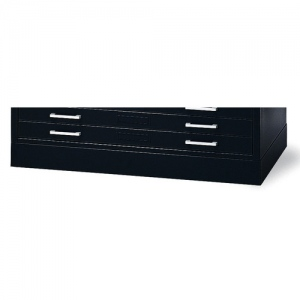 "Mayline® Flush Base C-File Black; Color: Black/Gray; Height: 4""; Material: Steel; (model 7869WB), price per each"