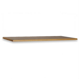 "SMI Medium Oak Steel Drawer Guide Flat File Cap: 33 7/8"" x 48 5/8"" x 1"""