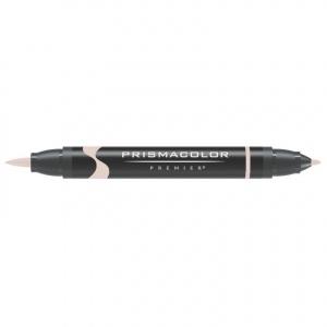 Prismacolor® Premier Brush Marker Almond Milk: White/Ivory, Double-Ended, Alcohol-Based, Dye-Based, Brush Nib, Fine Nib, (model PB024), price per each