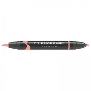 Prismacolor® Premier Brush Marker Carmine Red Light: Red/Pink, Double-Ended, Alcohol-Based, Dye-Based, Brush Nib, Fine Nib, (model PB260), price per each