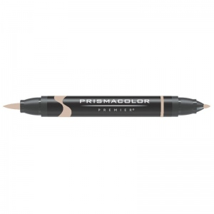 Prismacolor® Premier Brush Marker Light Umber 60%: Brown, Double-Ended, Alcohol-Based, Dye-Based, Brush Nib, Fine Nib, (model PB275), price per each