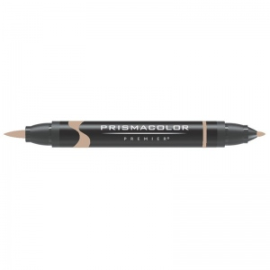 Prismacolor® Premier Brush Marker Light Umber 90%; Color: Brown; Double-Ended: Yes; Ink Type: Alcohol-Based, Dye-Based; Tip Type: Brush Nib, Fine Nib; (model PB278), price per each
