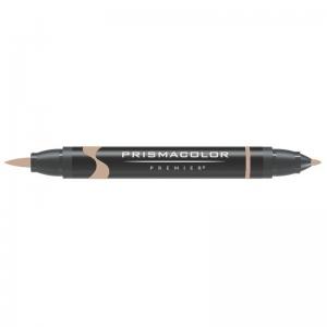 Prismacolor® Premier Brush Marker Light Umber 90%: Brown, Double-Ended, Alcohol-Based, Dye-Based, Brush Nib, Fine Nib, (model PB278), price per each