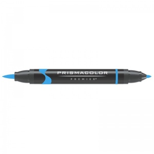 Prismacolor® Premier Brush Marker Neon Blue; Color: Blue; Double-Ended: Yes; Ink Type: Alcohol-Based, Dye-Based; Tip Type: Brush Nib, Fine Nib; (model PB179), price per each